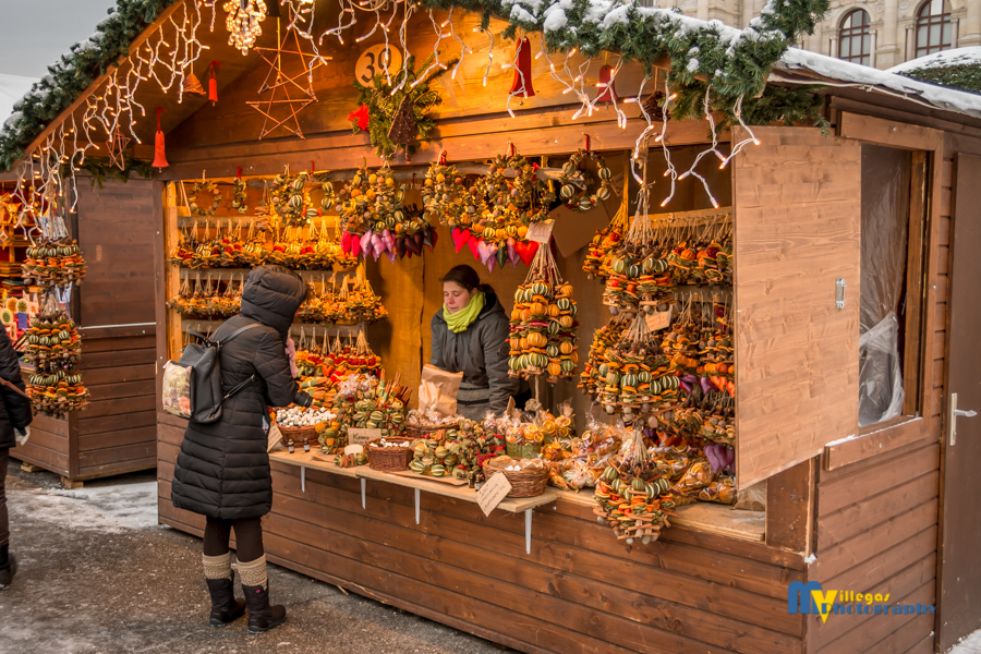 Shopper at the Christmas Market.