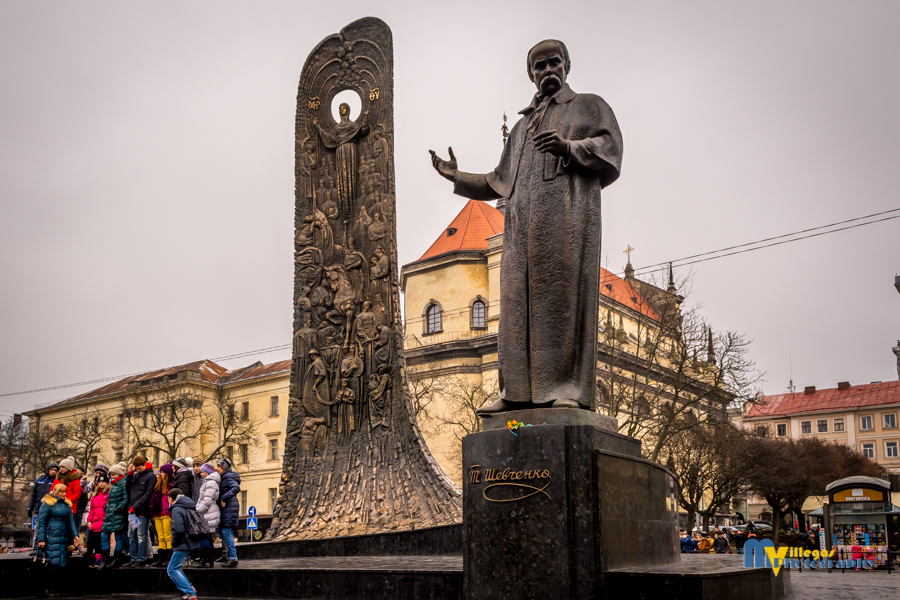 Statue of the poet Taras Shevchenko, father of the modern Ukrainian language.